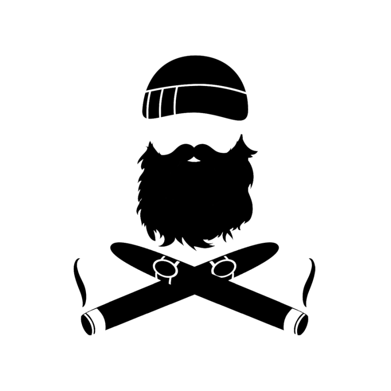 Beard clipart manly. Crossed cigars decal for