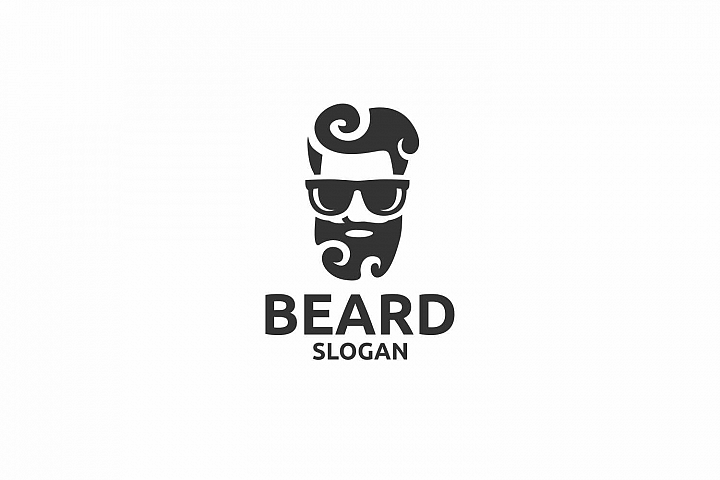 Beard clipart manly. Logo for graphic design