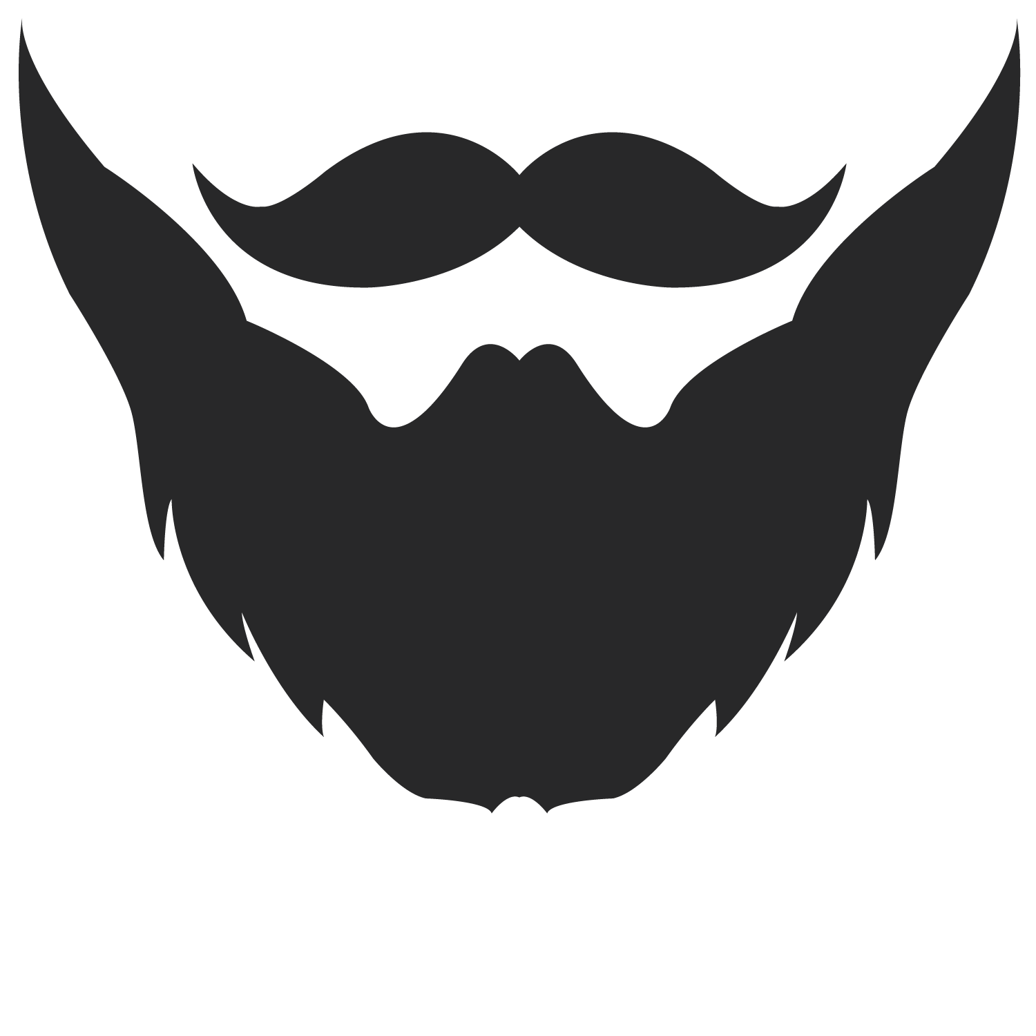 Drawing beard stylish