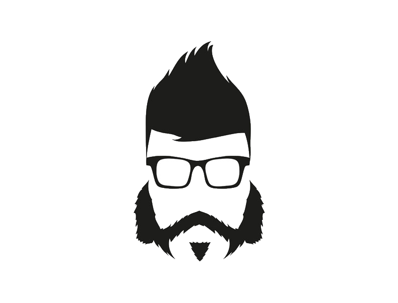 Beard silhouette png. Hairstyle illustration man avatar