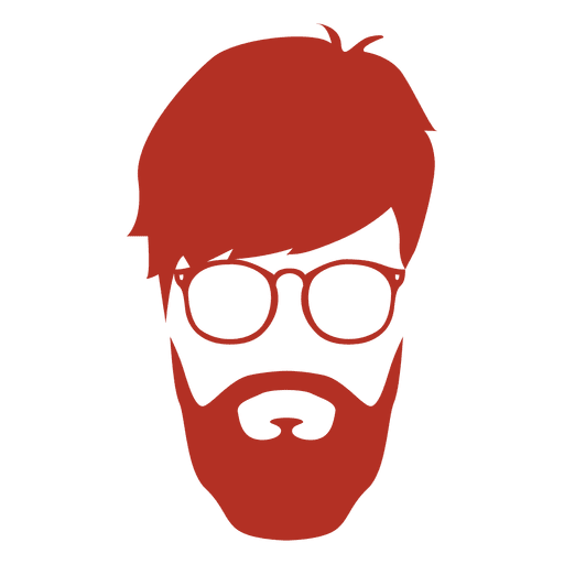 Beard silhouette png. Hipster man transparent svg
