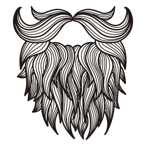 Illustrated Hipster Moustache Transparent Beard Vector Png