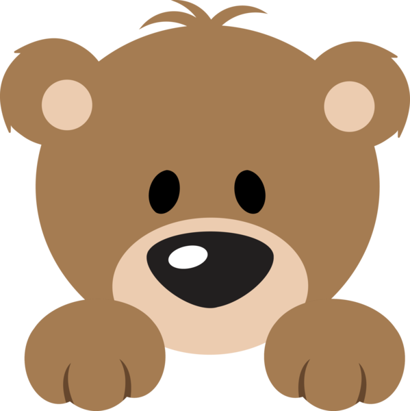 Cute bear png. Baby teddy clipart at