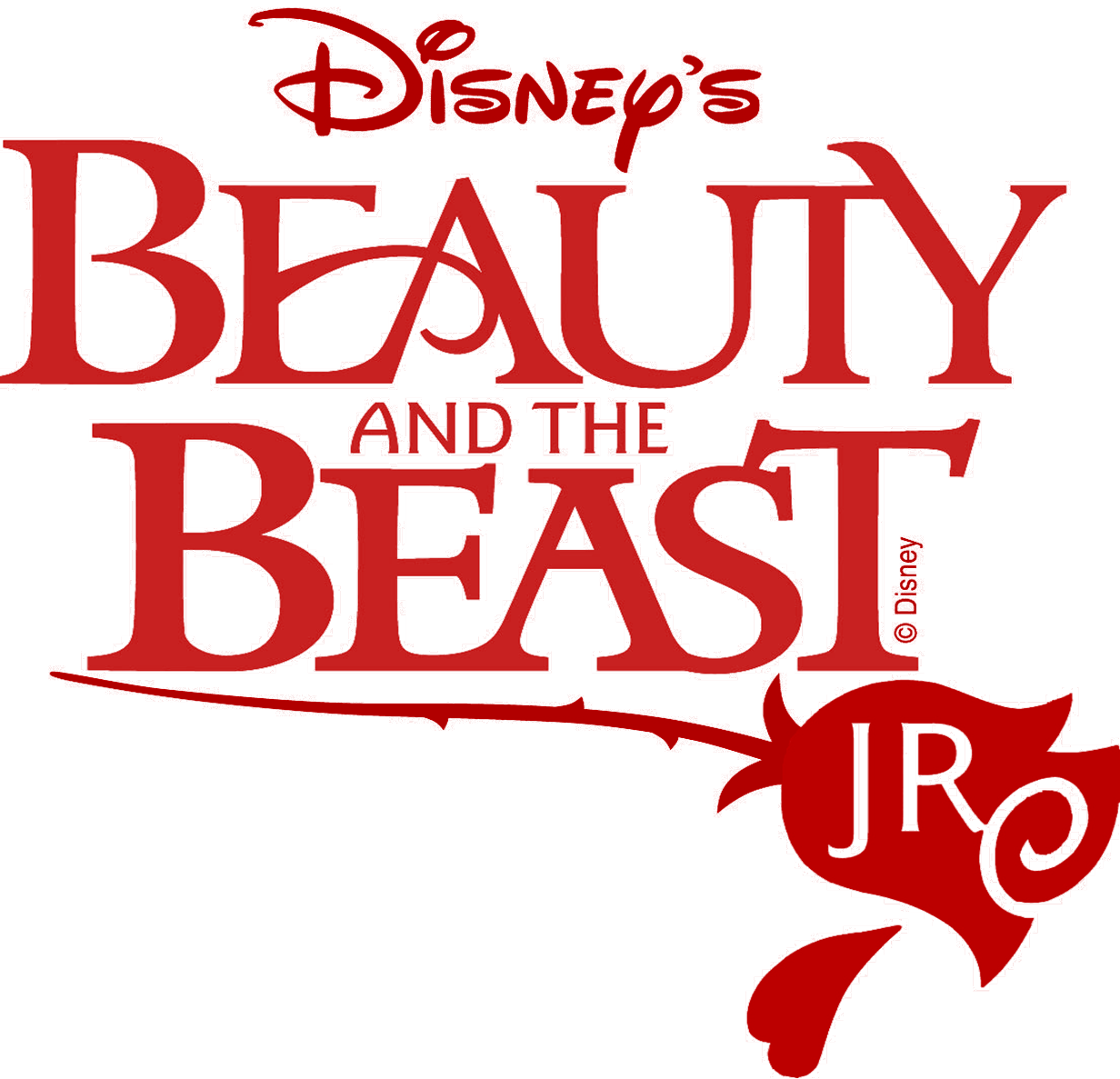Beast vector beauty and the. Jr logo with rose