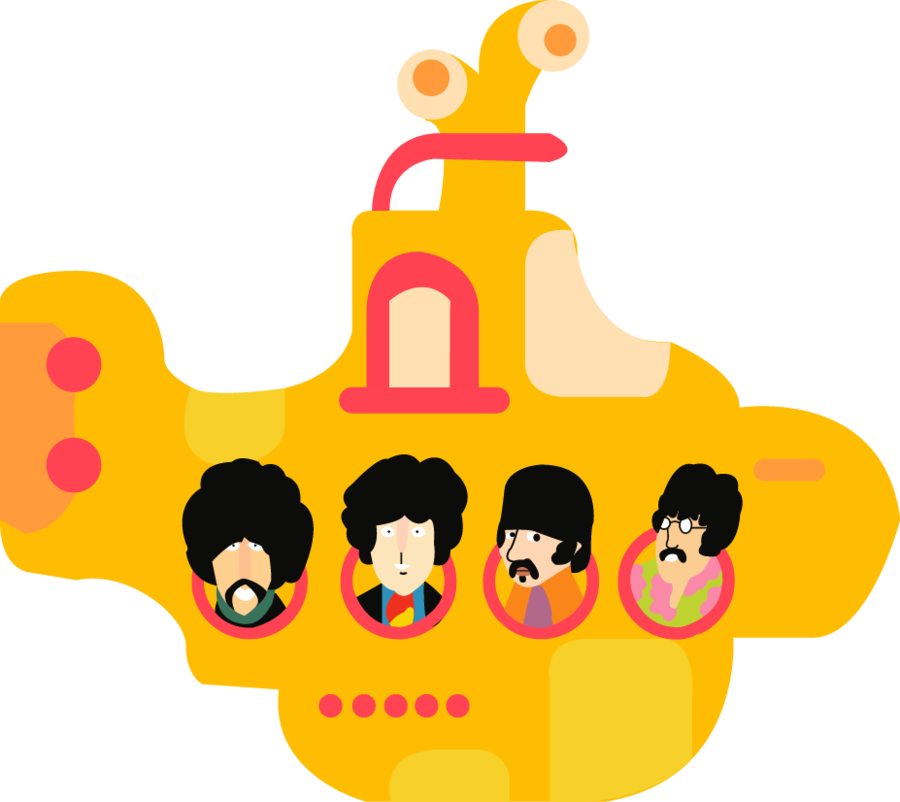 beatles vector graphic design