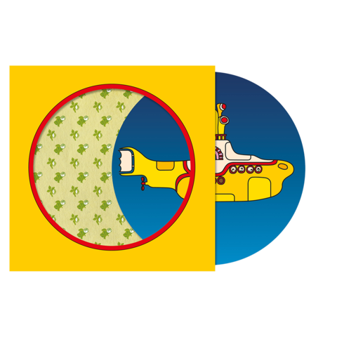 Beatles vector yellow submarine. Vinyl the limited edition