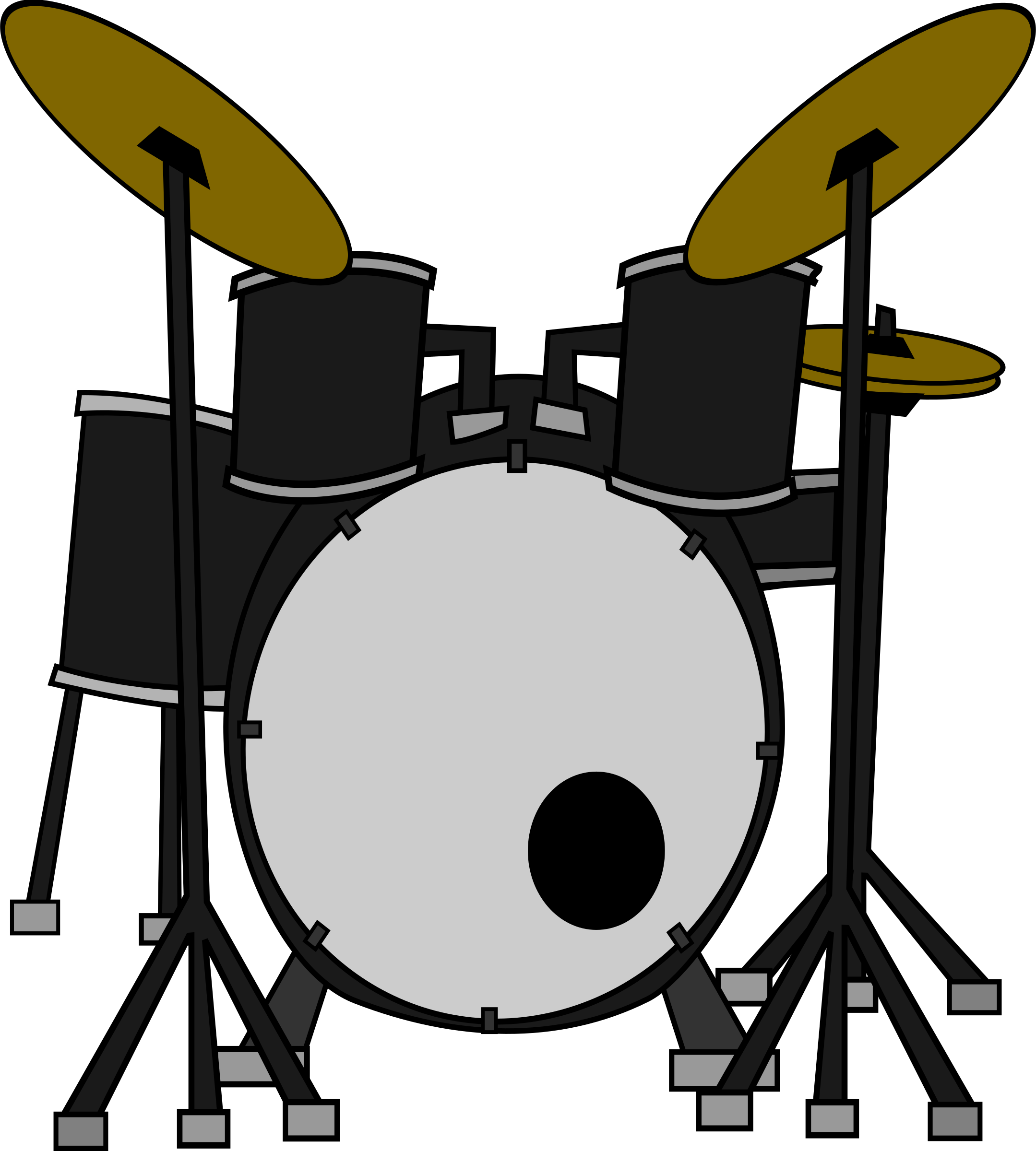 Beatles vector bass drum. Clipart drums
