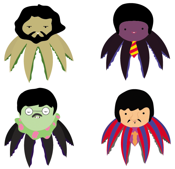 Beatles vector yellow submarine. Octo by wingrims on