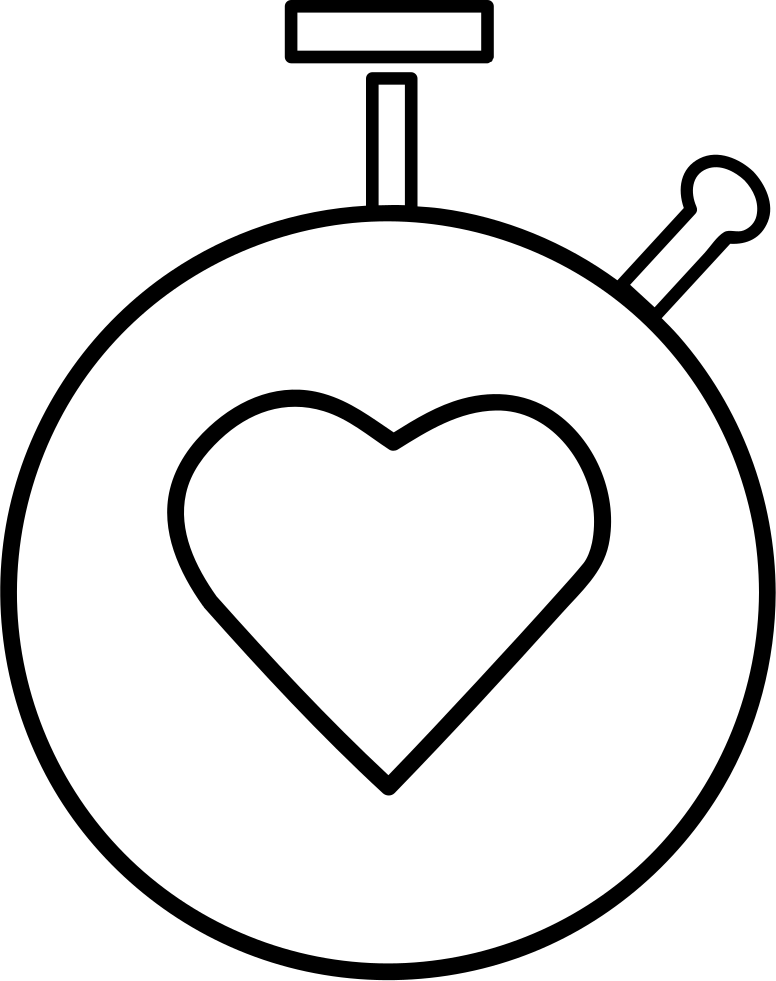 Heart controller outline svg. Beats drawing graphic freeuse