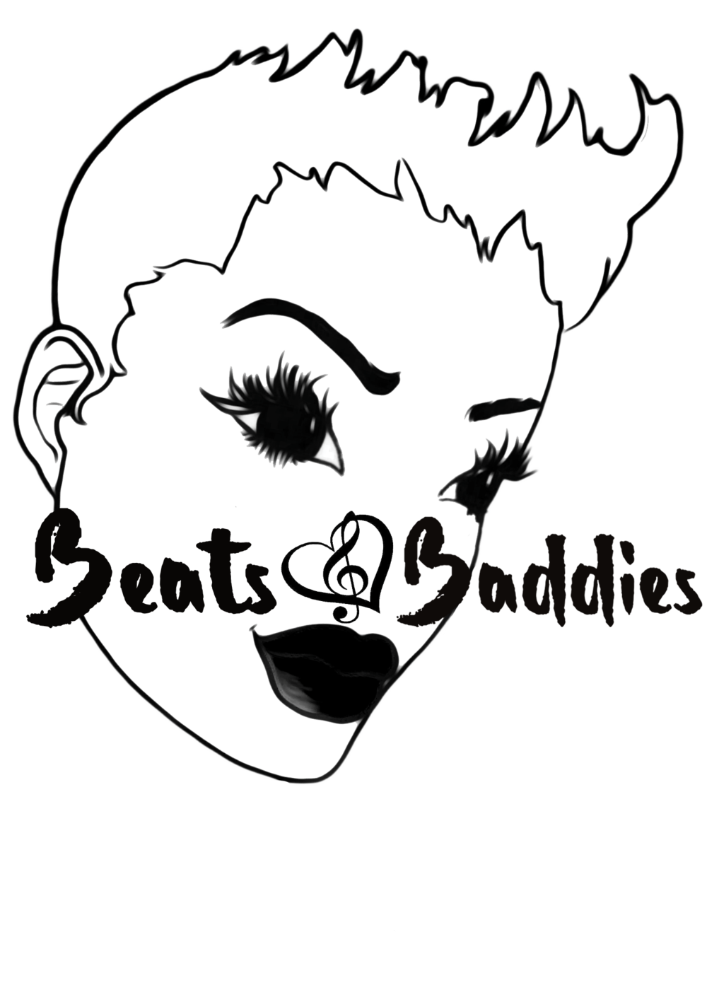 And baddies . Beats drawing vector black and white download