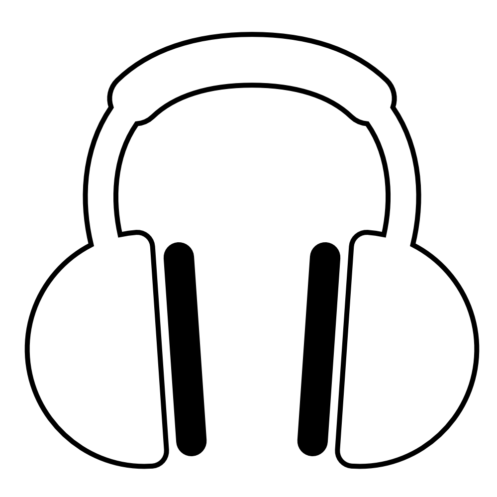 Collection of clipart. Drawing headphones dj headphone svg black and white stock