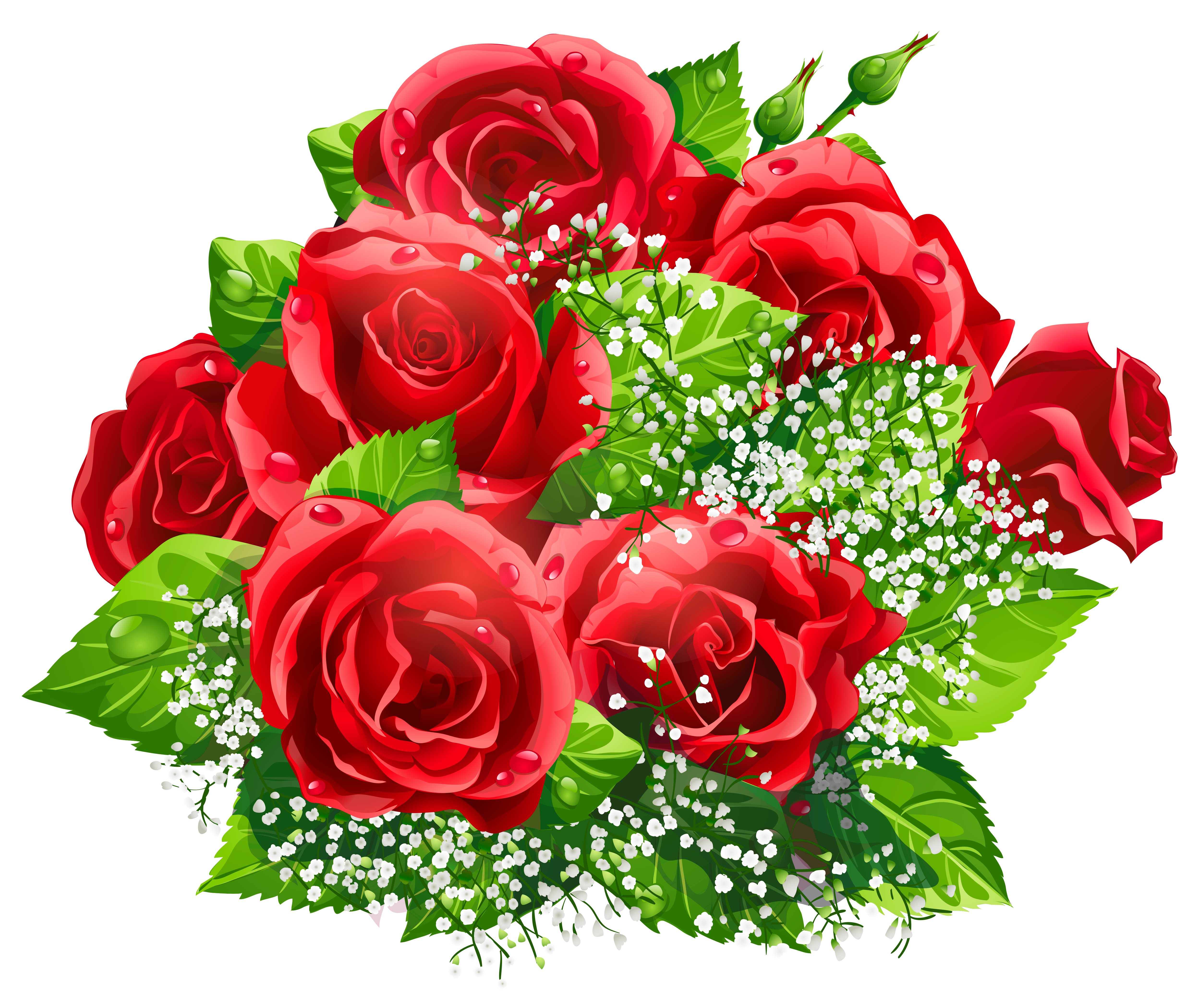 Beautiful clipart. Red roses decor png