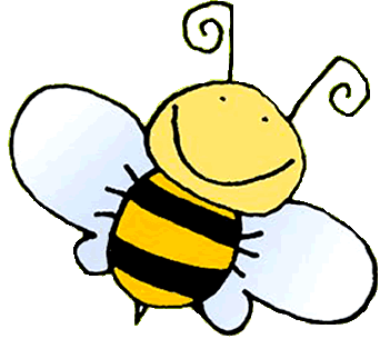 Positive clipart. Bee