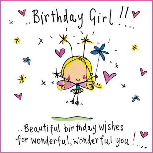 Beautiful clipart word wonderful. Birthday girl wishes for