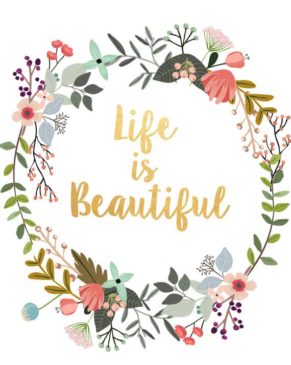 Beautiful clipart word wonderful. Art life is typography