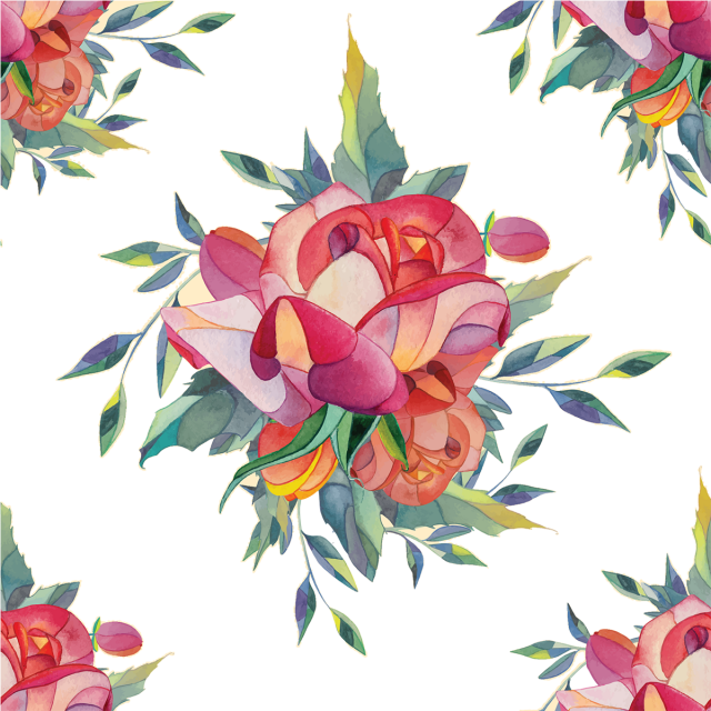 Rosas vector flores. Watercolor flower background with