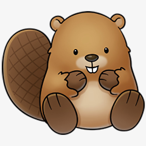 Brown cute lovely png. Beaver clipart clipart free library