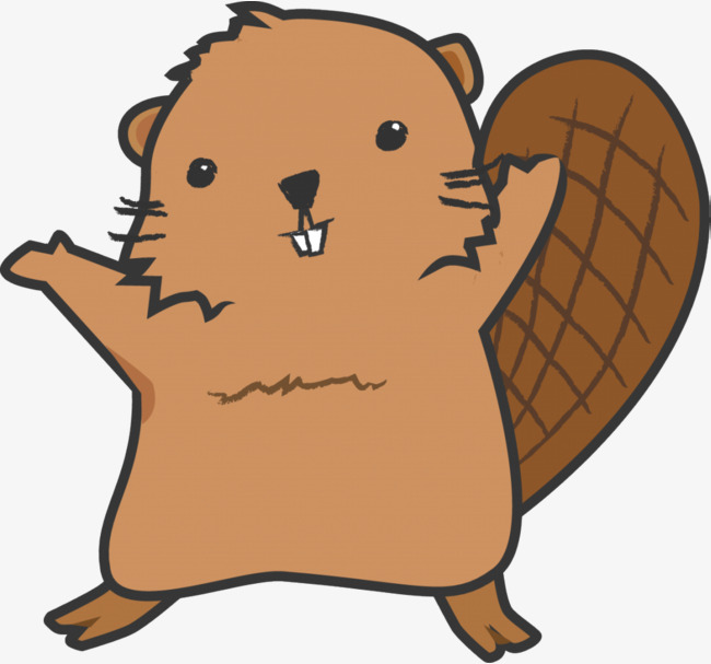 Standing up lovely png. Beaver clipart clipart royalty free