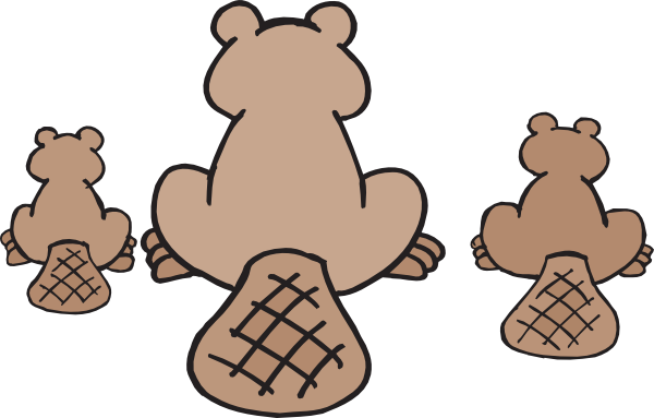 Clip art at clker. Beaver clipart beaver family picture stock