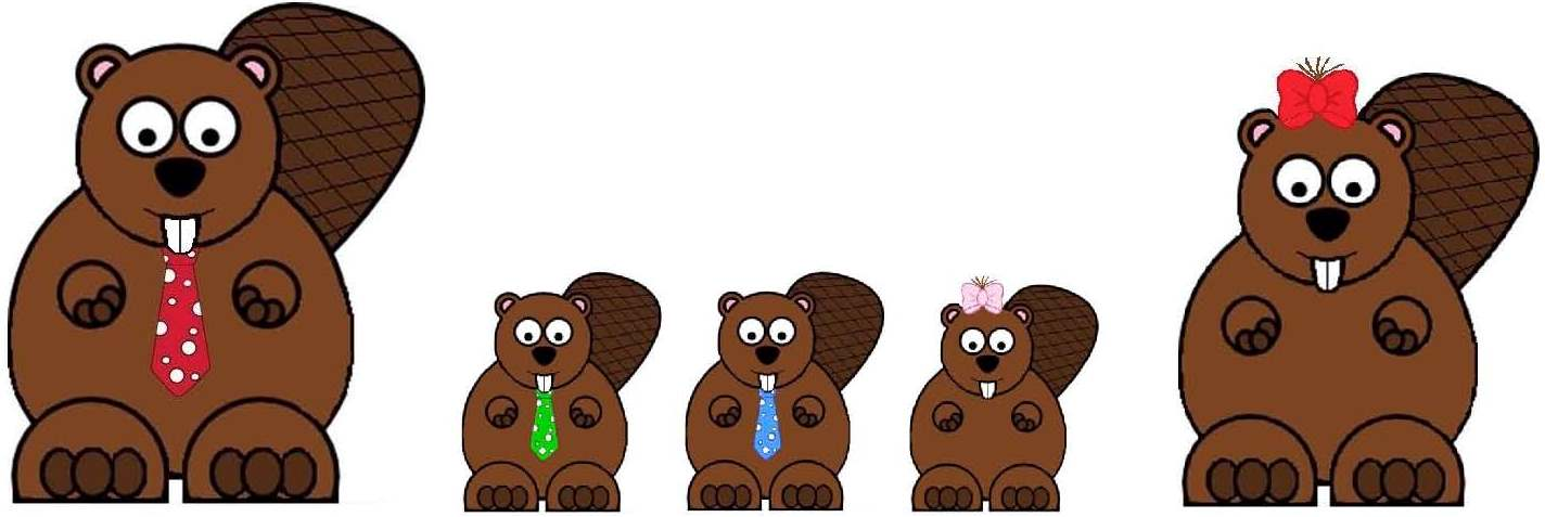 Polka dot ranch by. Beaver clipart beaver family clipart free download