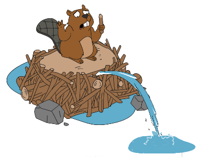Dumb guy addicts . Beaver clipart beaver family graphic stock