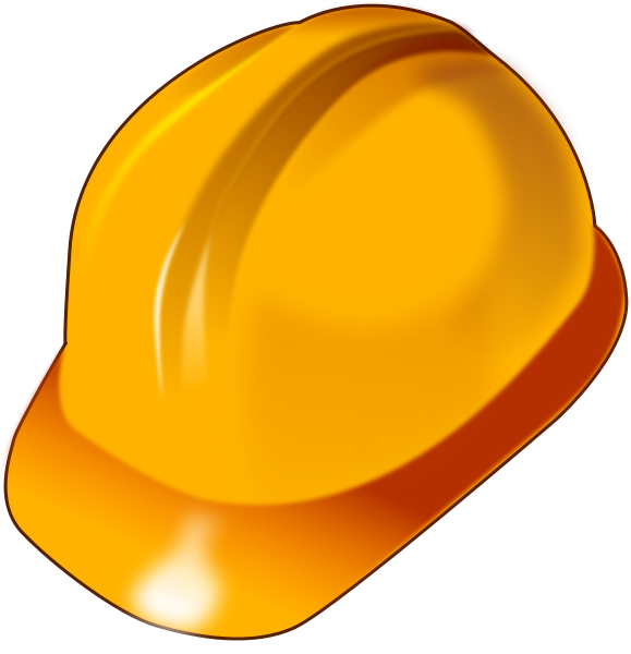 Hardhat vector svg. Free beaver wearing a