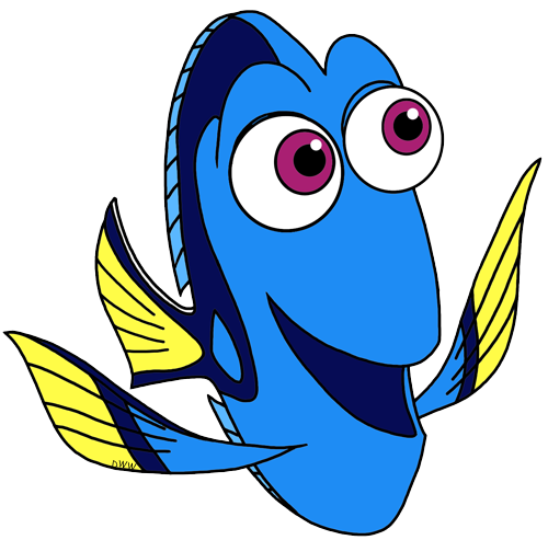 Finding clip art disney. Dory clipart blue fish jpg library library