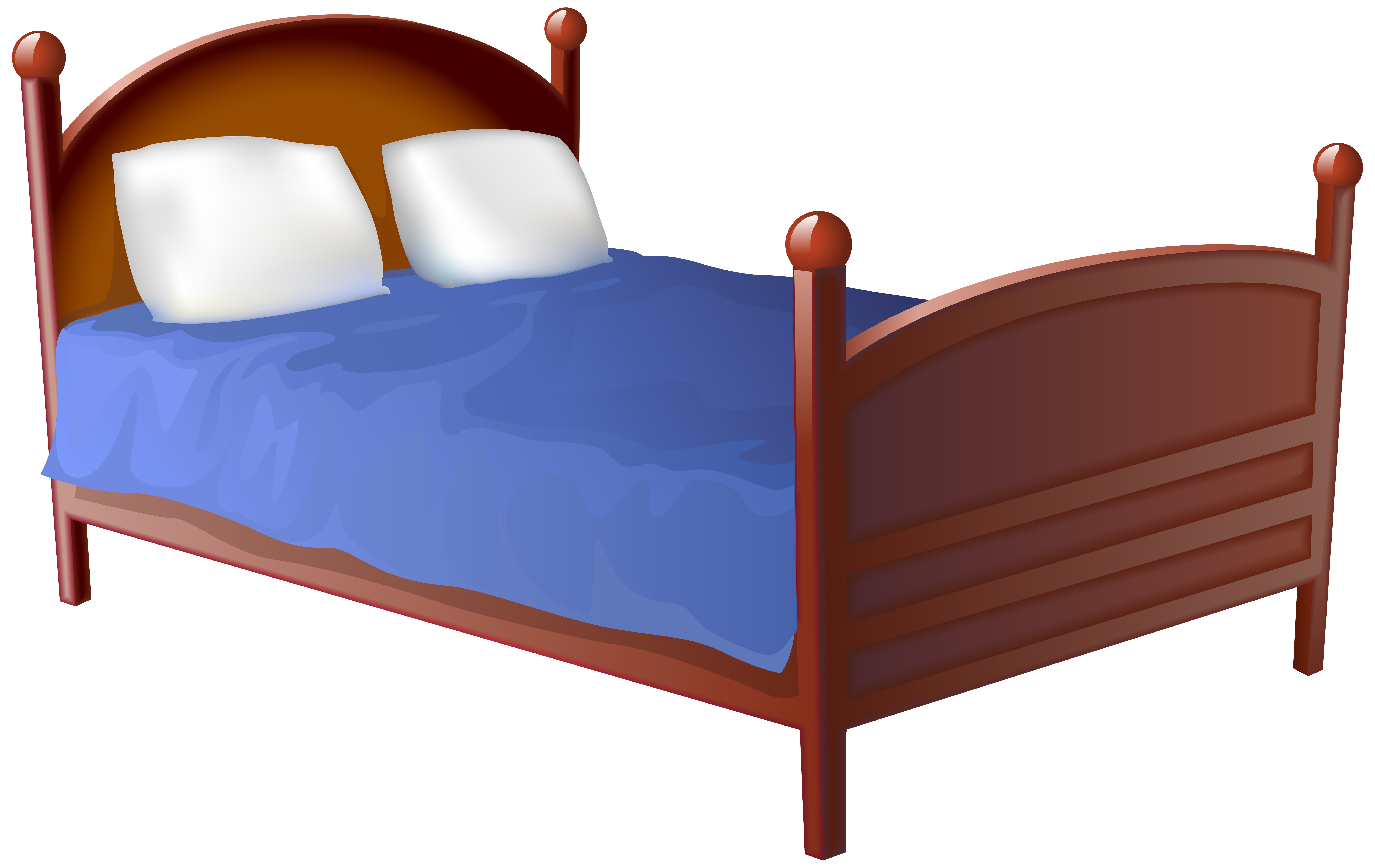 Bed clipart bed frame. Transparent png clip art