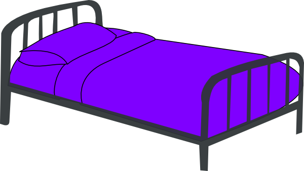 Vector furniture bed. Clip art free clipart