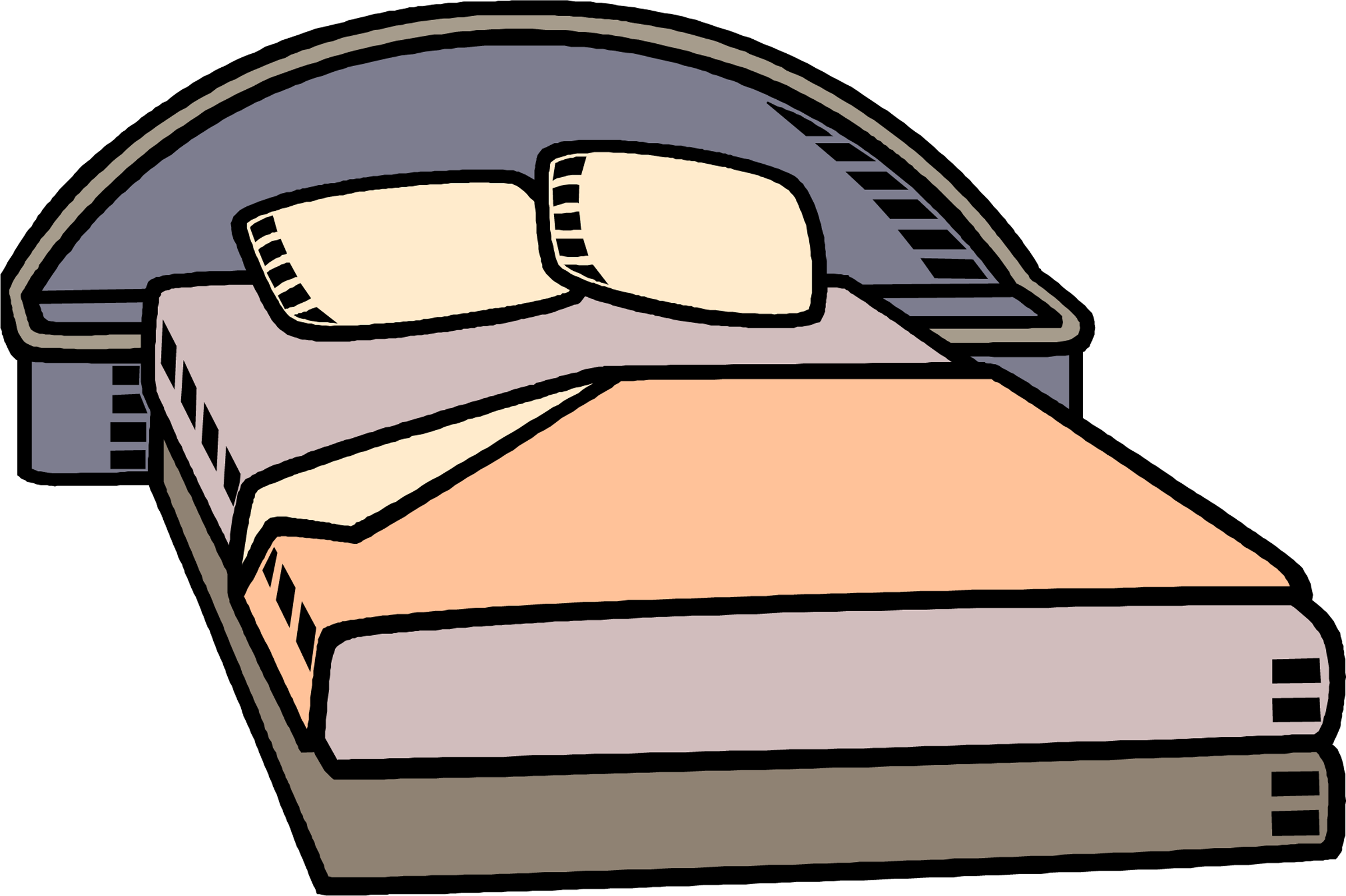 Bed clipart cartoon. Free cliparts download clip