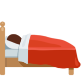 Bed emoji png. Person in on