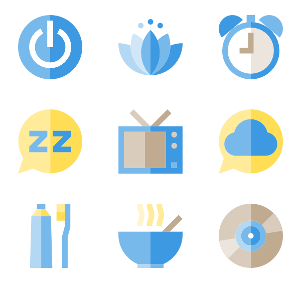 Bed time png. Sleep icons free vector