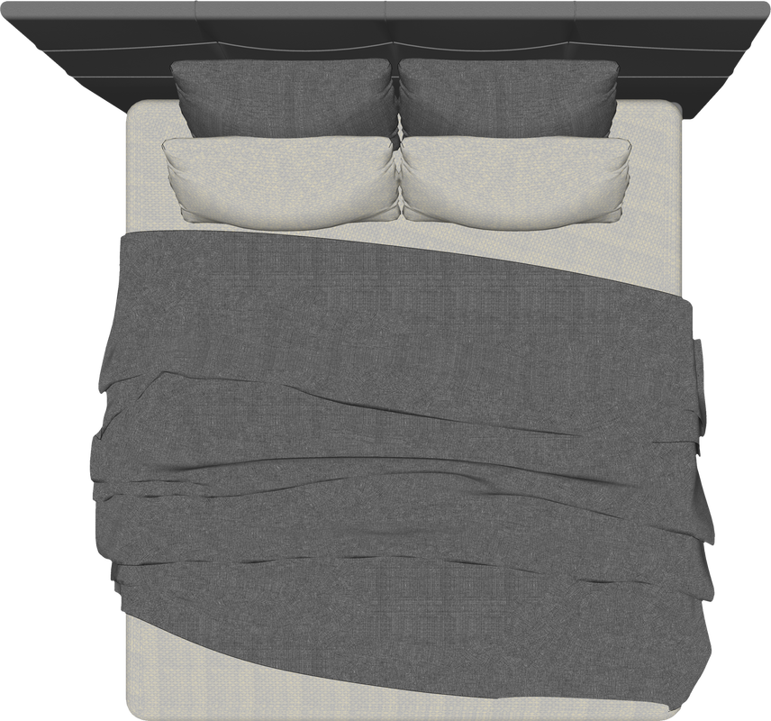 Bed top view png. Floor plan architecture furniture