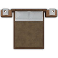 Bed top view png. Millennium apartments interior decorator