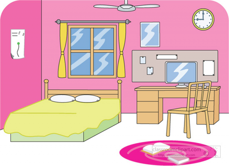 bedroom clipart clean room