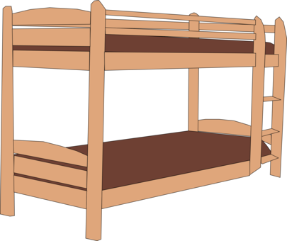 Drawing bedroom twin. Bed size hospital frame