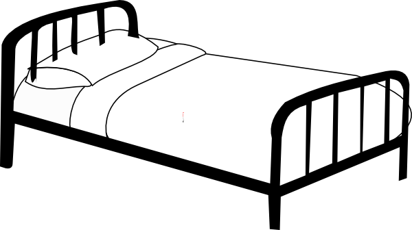 Hospital clip art. Drawing bed black and white freeuse download