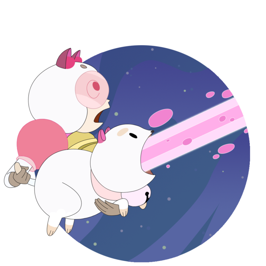 Bee and puppycat png. Laser by everay on