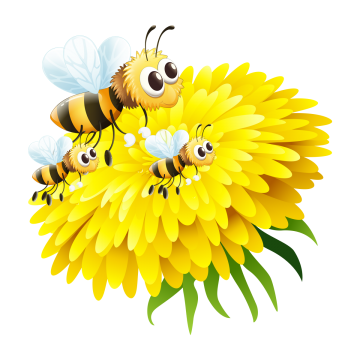 Bees transparent background. Cartoon bee png images