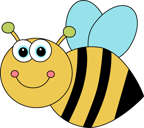 Bee clip art. Images cute cartoon