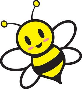 Honey bee image cartoon. Bumblebee clipart svg black and white stock