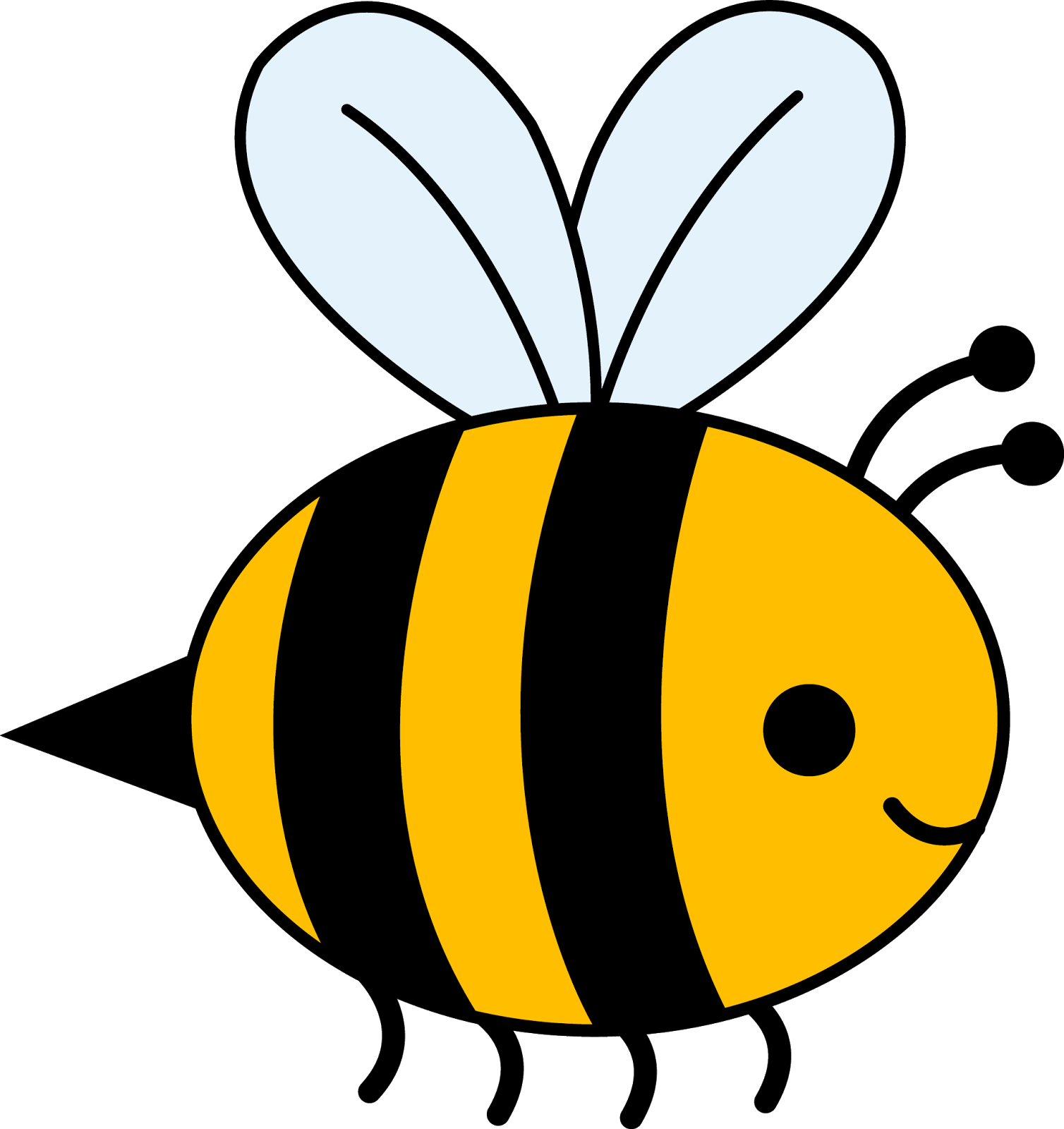 Bumblebee clipart. Bee black and white