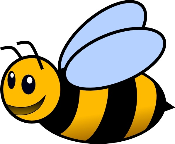 Free vector in open. Bee clip art svg library stock