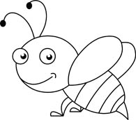 Bee clip art black and white. Search results for pictures
