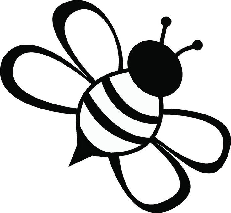 Bee clip art black and white. Clipart ideas only on