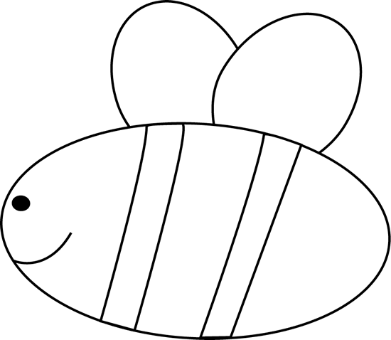 Bee clip art black and white. Image