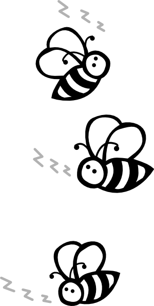 Buzz clip art. Black and white flying