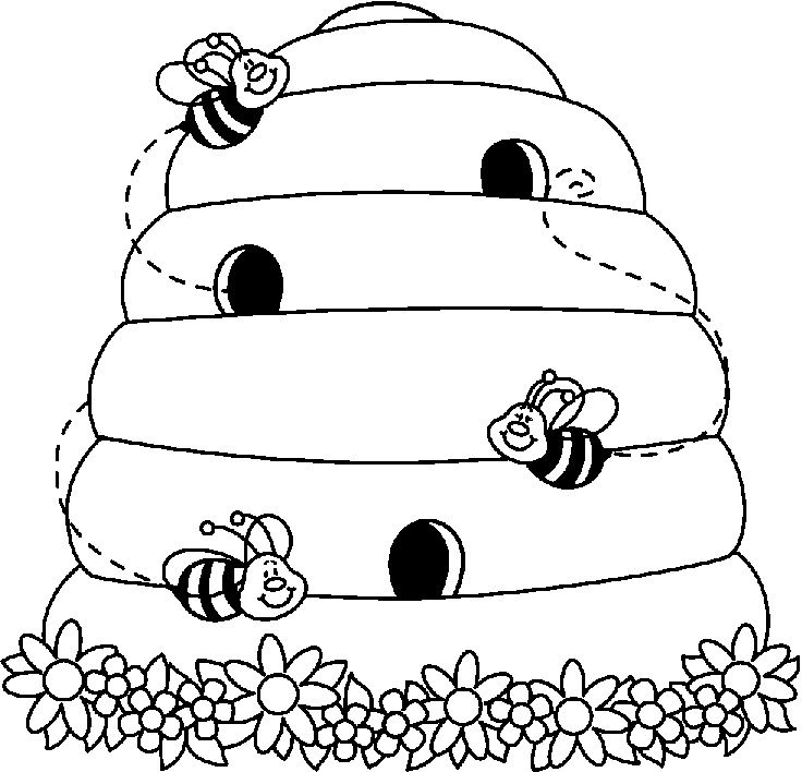 Bee clip art black and white. Use the form below