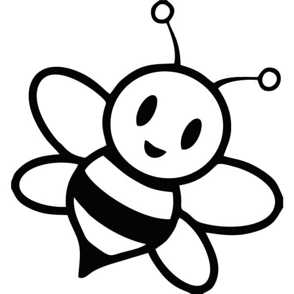 Bee clip art black and white. Honey drawing at getdrawings