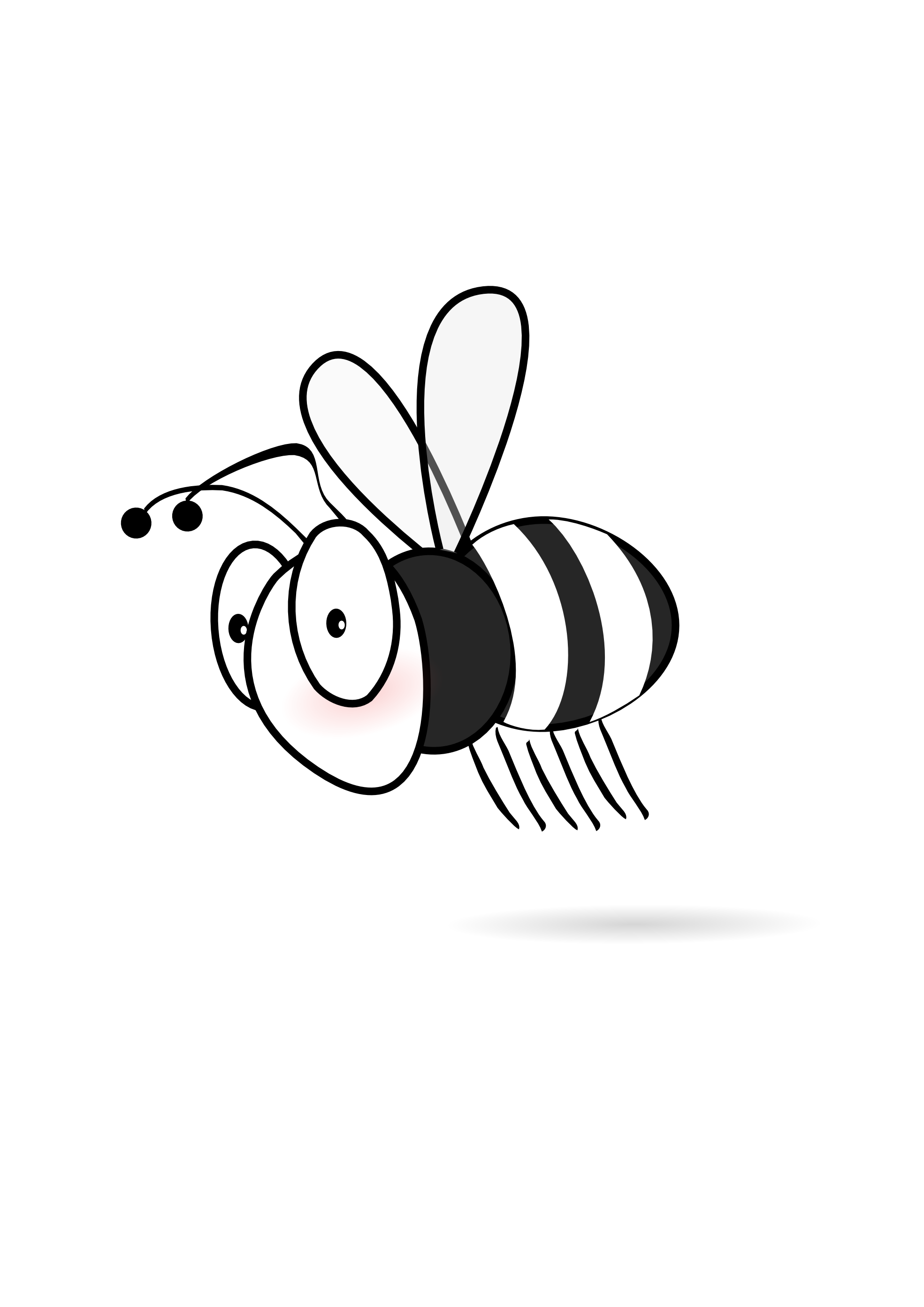 Bee clip art black and white. Skull clipart images gallery